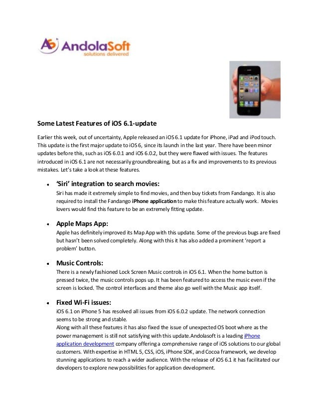 Some latest features of ios 6.1 update