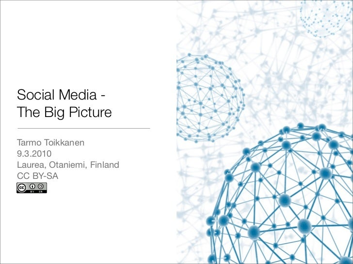 Social Media - The Big Picture