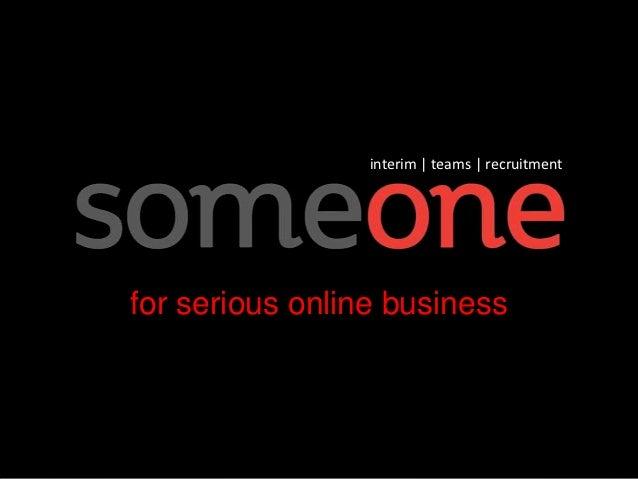 interim | teams | recruitmentfor serious online business