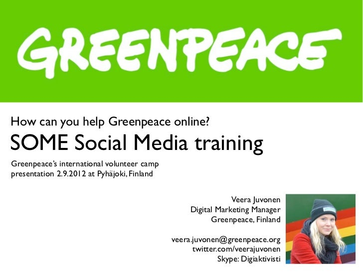 How to help Greenpeace online