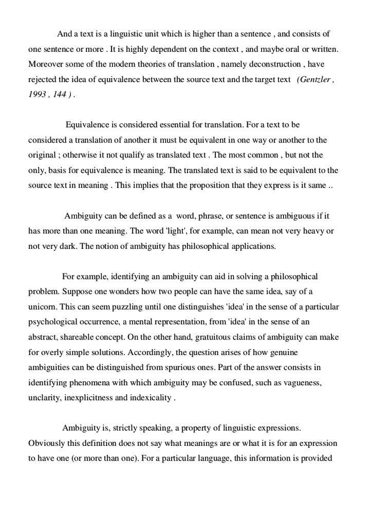 Ethics of ambiguity essay