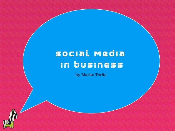 Social Media in Business 12/2009