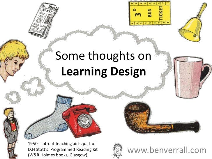 Some thoughts onLearning Design<br />1950s cut-out teaching aids, part of D.H Stott's  Programmed Reading Kit (W&R Holmes ...