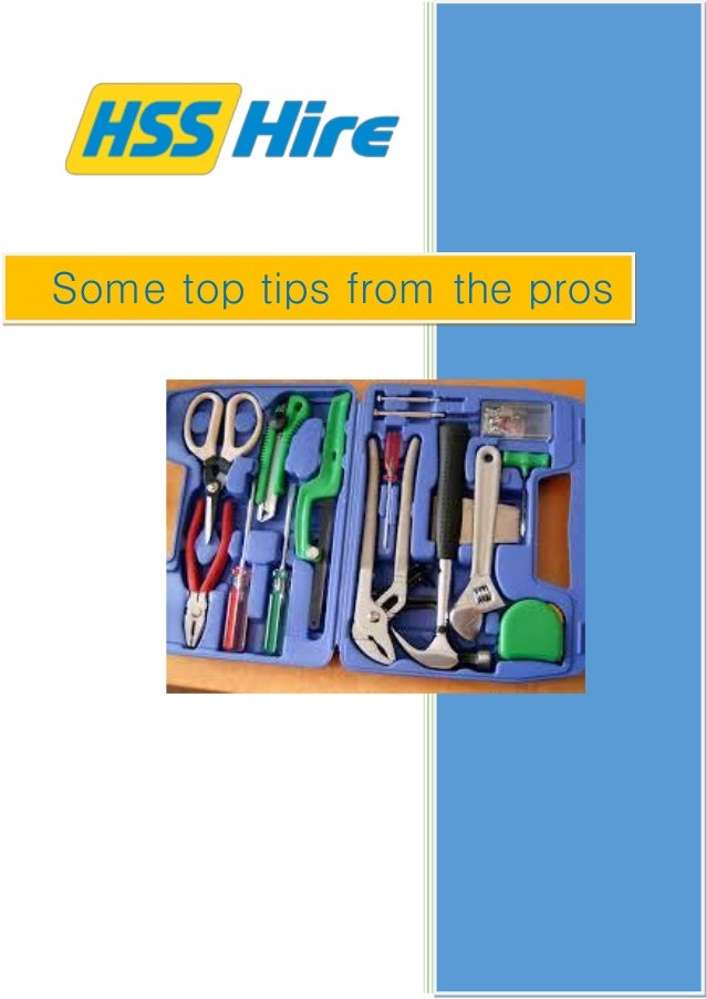 Some top tips from the professionals