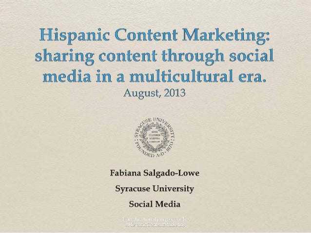 For educational purposes only. #HispanicContentMarketing