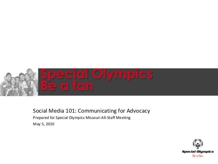 Special Olympics Missiouri Social Media Training
