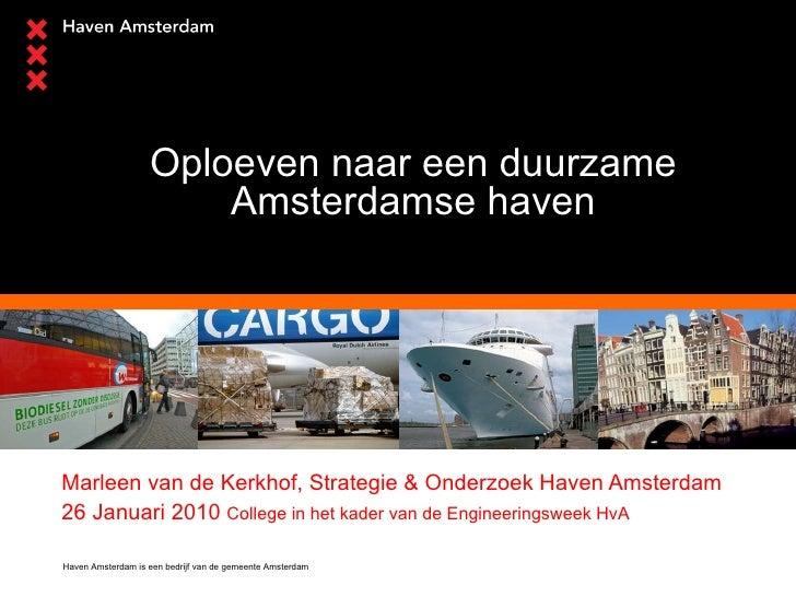 S&O Marleen van de Kerkhof Duurzaamheid Engineeringweek Hogeschool van Amsterdam