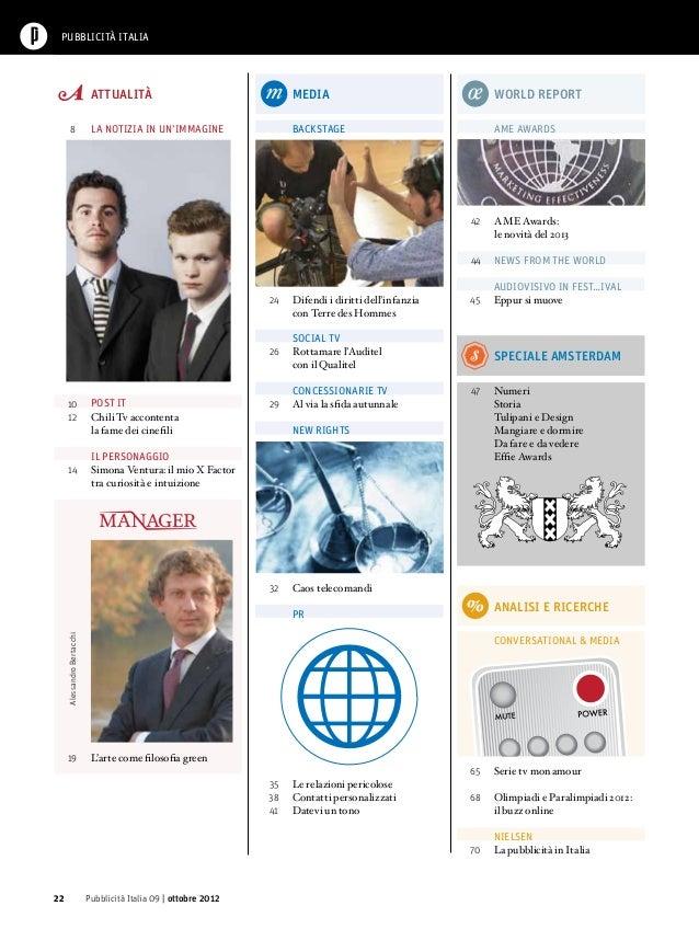 Sommario Pubblicità Italia n.8 Ottobre 2012