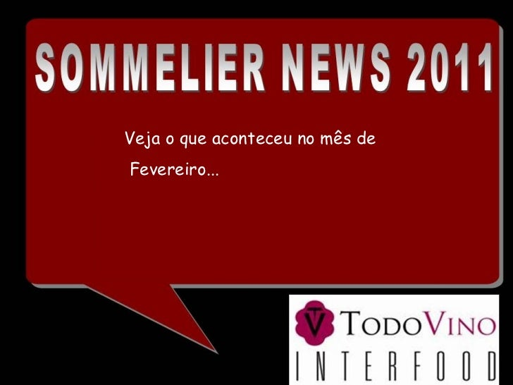 Sommelier  News   Fevereiro 2011