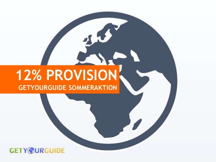 12% PROVISIONGETYOURGUIDE SOMMERAKTION