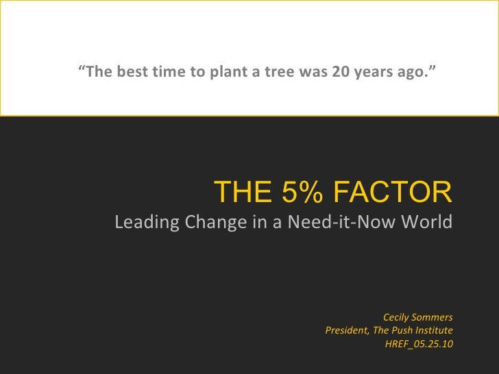 The 5% Factor: Embedding Innovation in Organizational Culture
