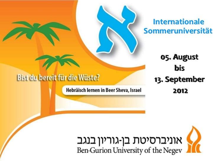 05. August  bis  13. September  2012