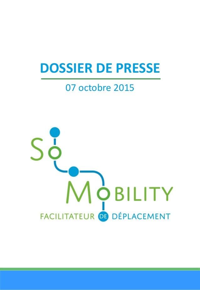 DOSSIER DE PRESSE 07 octobre 2015