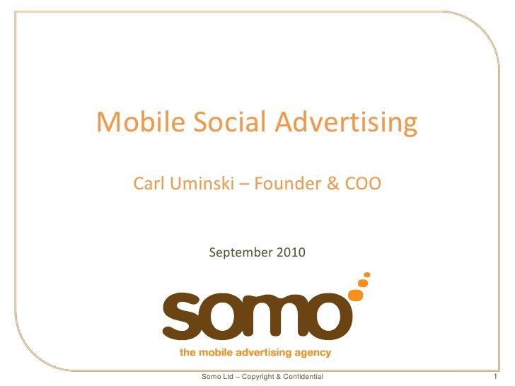 Somo Agency Presentation - social media advertising