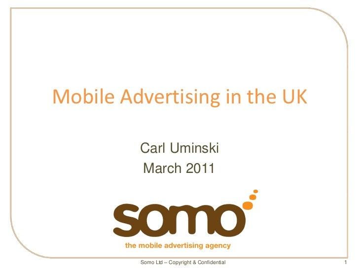 『英国のモバイル広告市場:ケーススタディ 』