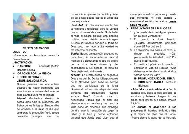 CRISTO SALVADOR OBJETIVO: -Reconocer a Jesucristo como la Buena Nueva. I.-MOTIVACION:  CANCION: Jesucristo.(Autor: Robert...