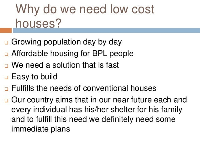 Low cost housing india for What is the cost of building a house in india