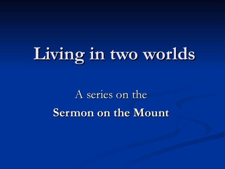 Sermon on the Mount Session 2