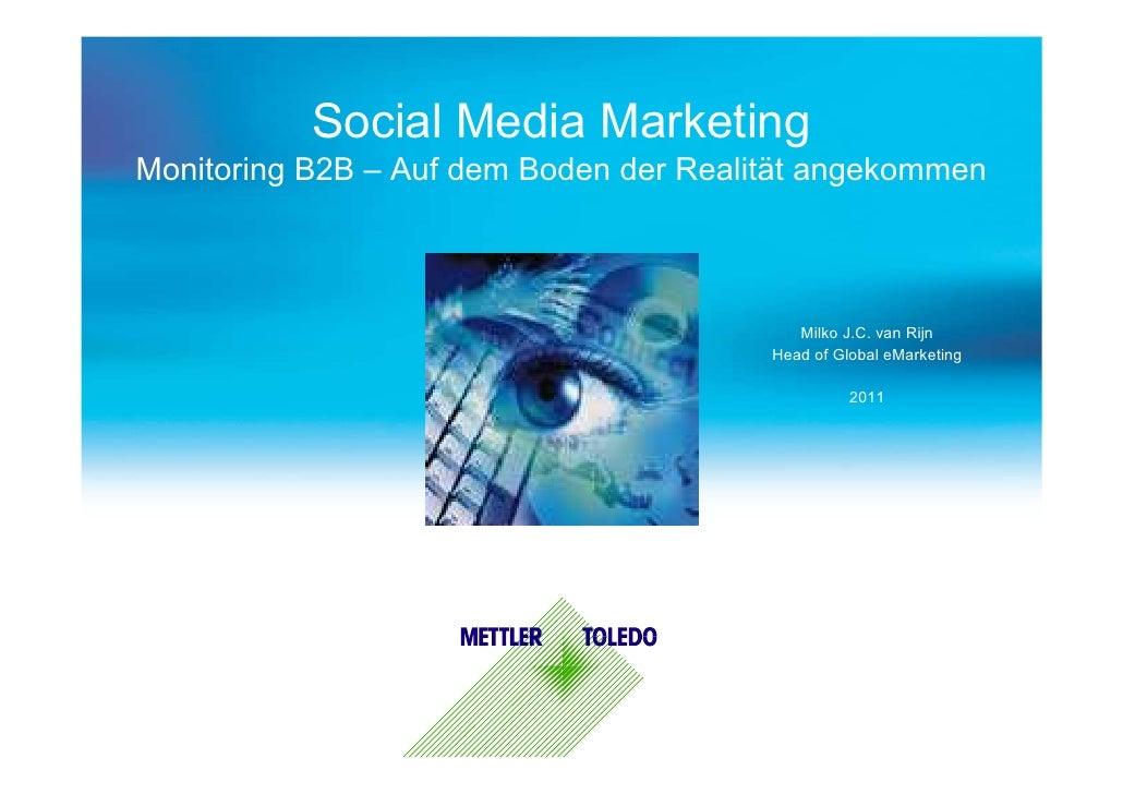 Social Media MarketingMonitoring B2B – Auf dem Boden der Realität angekommen                                           Mil...