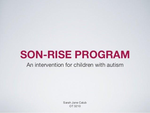Son-Rise Program