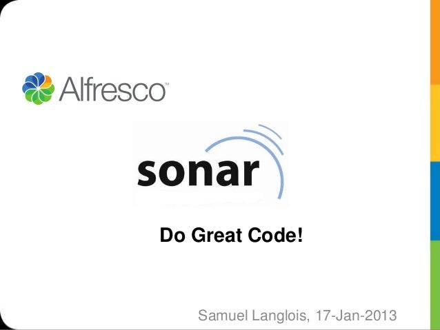Sonar Overview