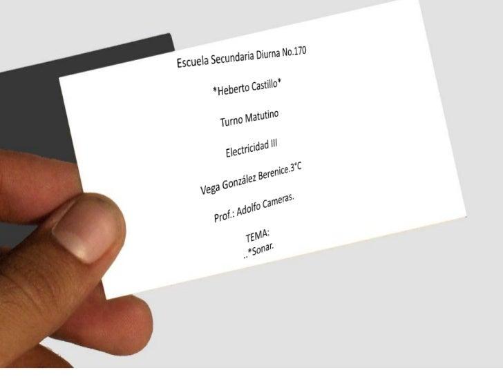 Escuela Secundaria Diurna No.170<br />*Heberto Castillo*<br />Turno Matutino<br />Electricidad III<br />Vega González Bere...