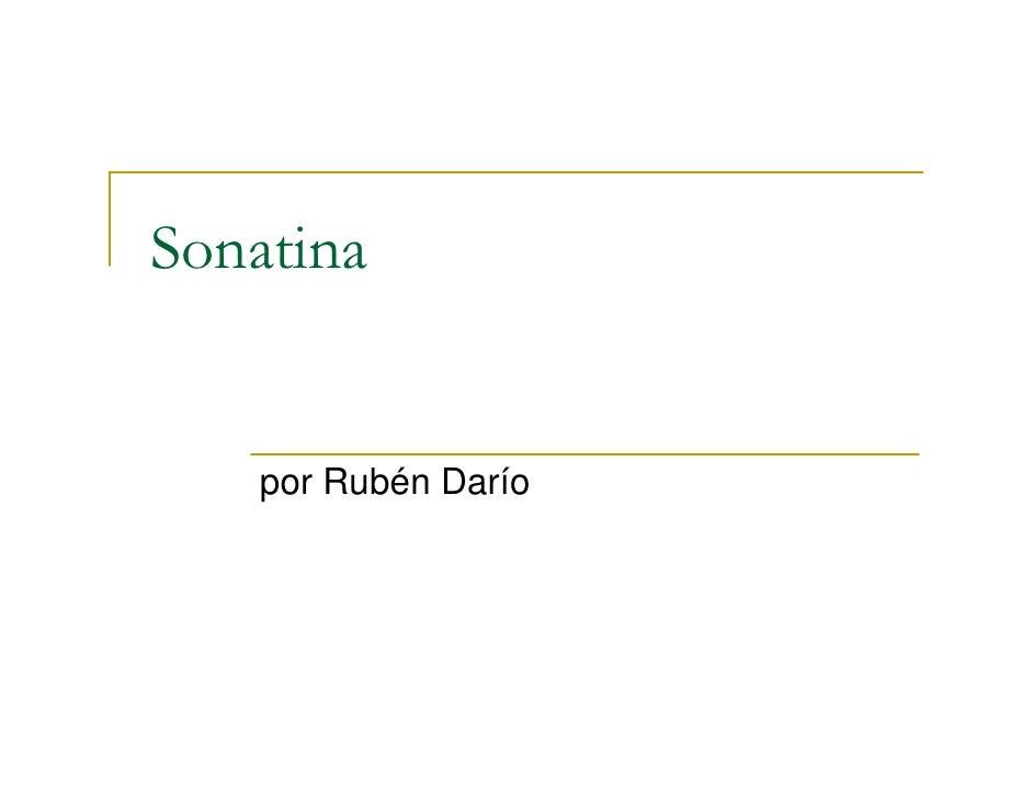 Sonatina       por Rubén Darío