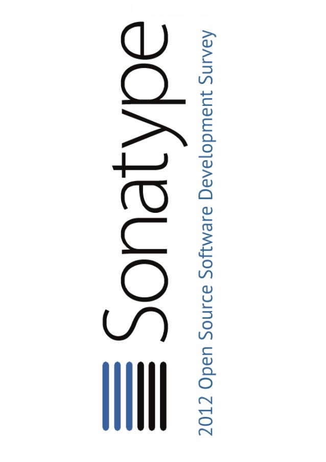 Sonatype component survey 2012