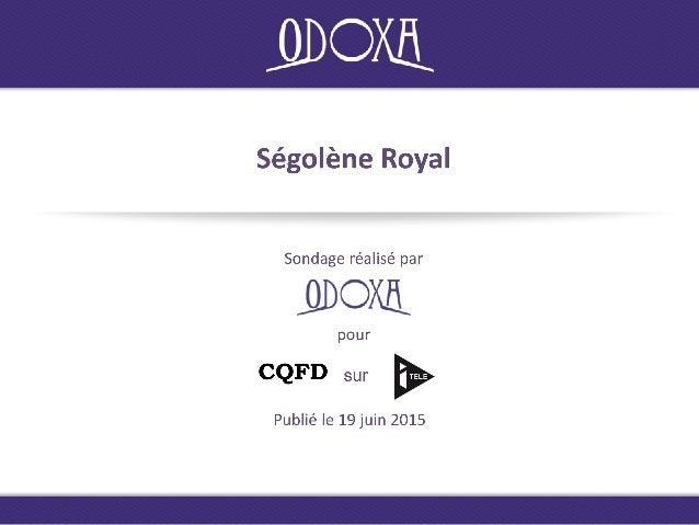 CQFD Méthodologie Recueil Enquête réalisée auprès d'un échantillon de Français interrogés par Internet les 18 et 19 juin 2...