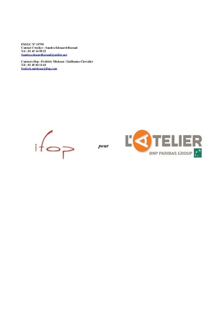 Sondage L'Atelier - Ifop : les nouvelles formes d'engagement des salariés