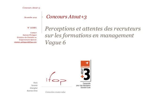 Concours Atout+3           Novembre 2012      Concours Atout+3               N° 110691                   Contact          ...