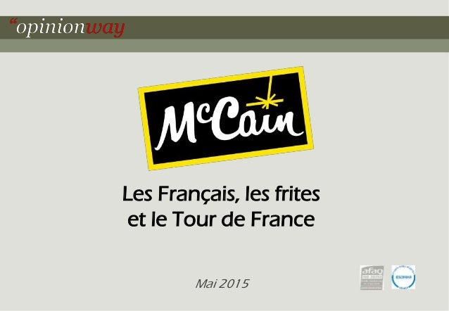 Les Français, les frites et le Tour de France Mai 2015
