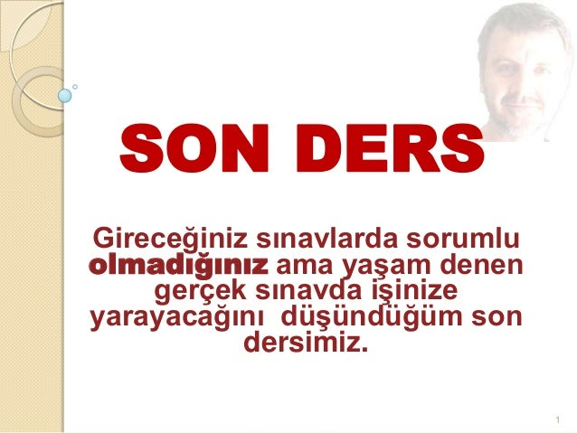 SON DERS from A CAN