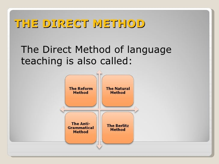 direct method of elt The direct method objectives  the basic premise of the direct method is that students will learn to communicate in the target language, partly by learning how to think in that language and by not involving l1 in the language learning process whatsoever.