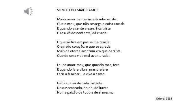 Análise - Soneto do maior amor, Vinicius de Moraes