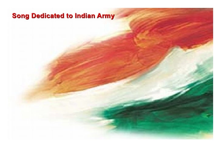 Song Dedicated to Indian Army