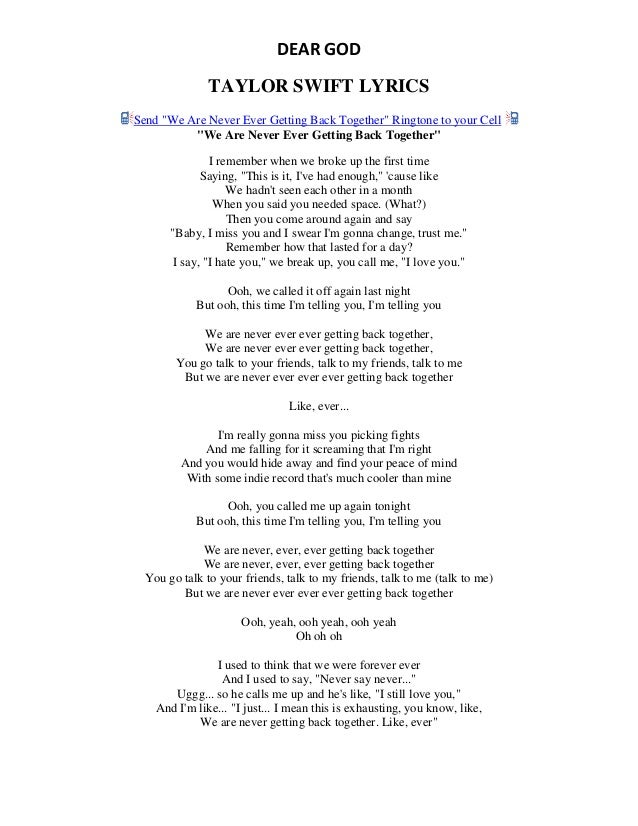 lyrics of blank space pdf
