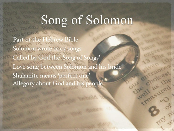 song of solomon love essays