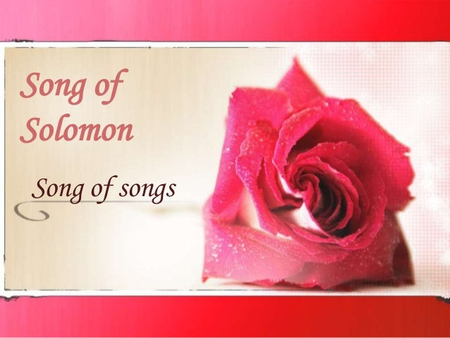 Song of solomon analysis