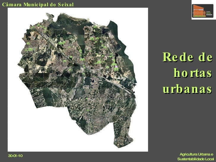 Rede de hortas urbanas Câmara Municipal do Seixal