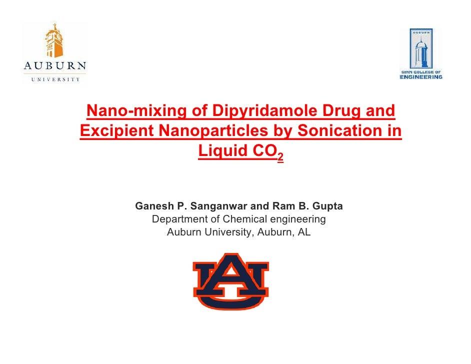 Dipyridamole Nanomixing- AIChE\' 08