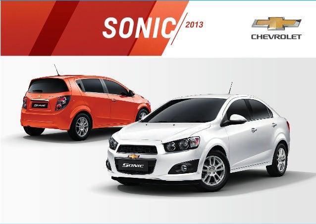 โบชัวร์ Chevrolet Sonic brochure