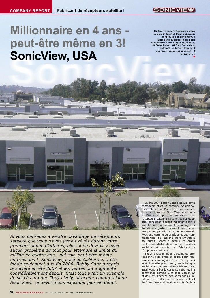 COMPANY REPORT                        Fabricant de récepteurs satellite     Millionnaire en 4 ans -                       ...