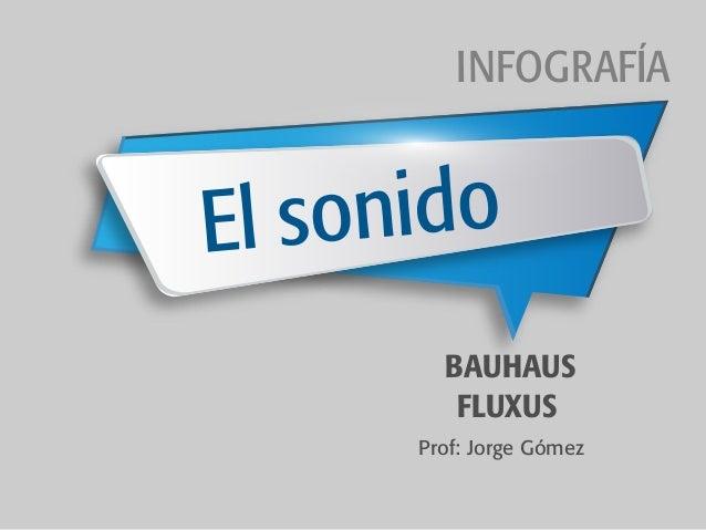 BAUHAUS FLUXUS El sonido INFOGRAFÍA Prof: Jorge Gómez