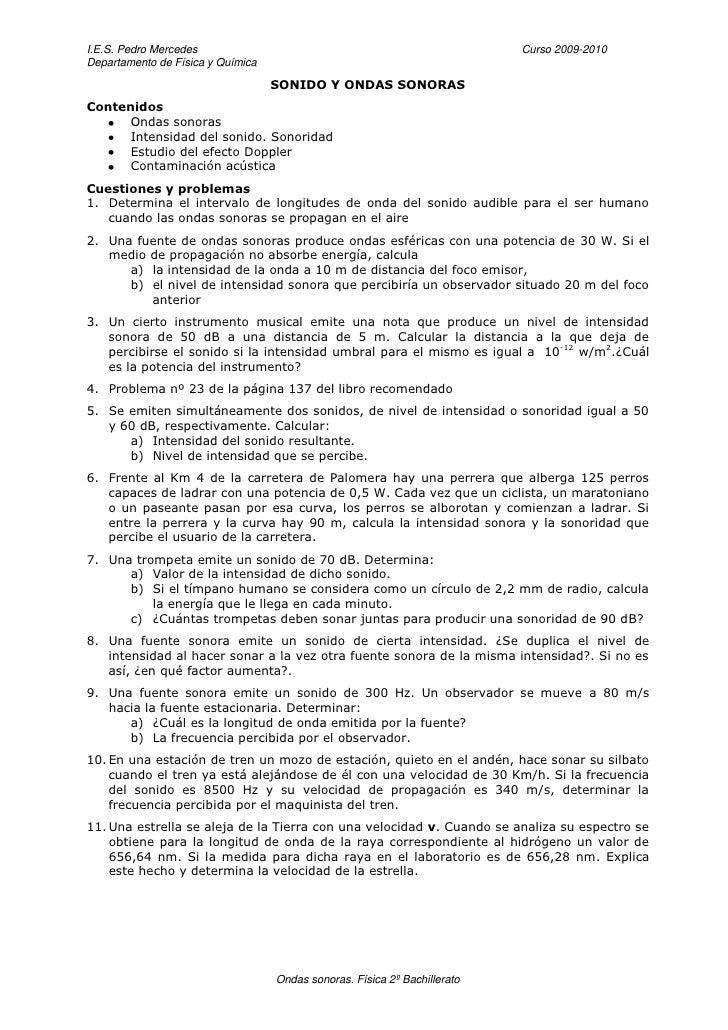 I.E.S. Pedro Mercedes                                                      Curso 2009-2010 Departamento de Física y Químic...