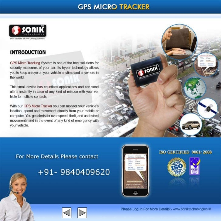Sonik gps  tracker presentation