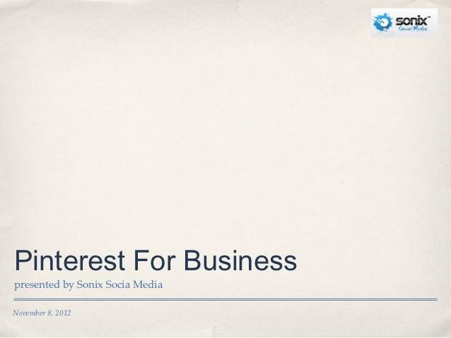 Sonix Social Media Pinterest Presentation