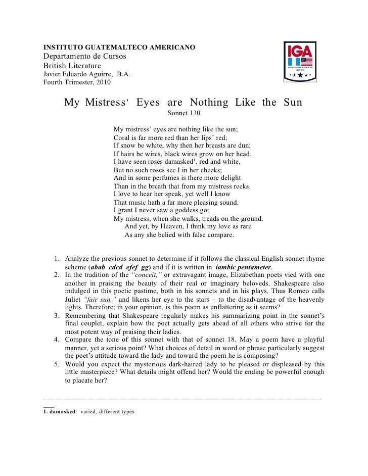 Shakespeare Sonnet 30 Essay Essays I Can Copy