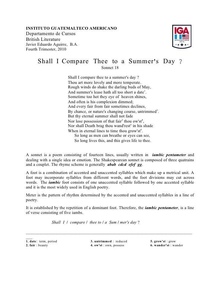 Sonnet 18   Shakespeare