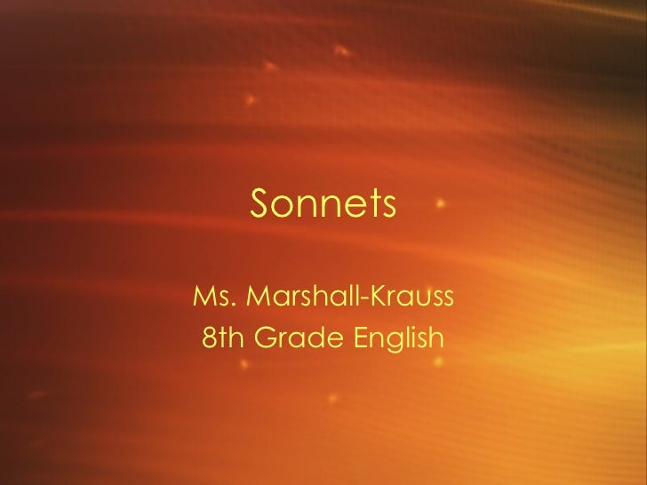 Sonnets characteristics and definitions gt